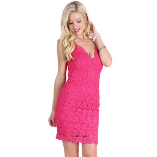 NikiBiki Women's Fuchsia Back Lace-up Dress