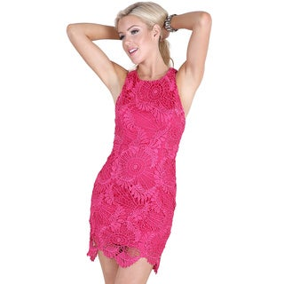 NikiBiki Women's Fuchsia Sleeveless Lace Dress