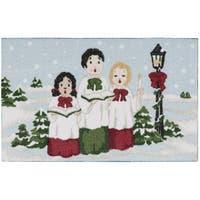 """kathy ireland Once Upon a Christmas Light Blue Accent Rug - 1'8"""" x 2'8"""""""