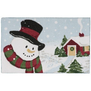 kathy ireland Once Upon a Christmas Light Blue Accent Rug (1'8 x 2'8) by Nourison