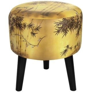 Oriental Furniture Gold Bamboo Stool (China)