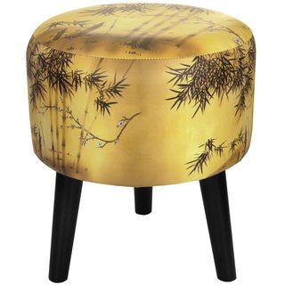 Handmade Oriental Furniture Gold Bamboo Stool (China)