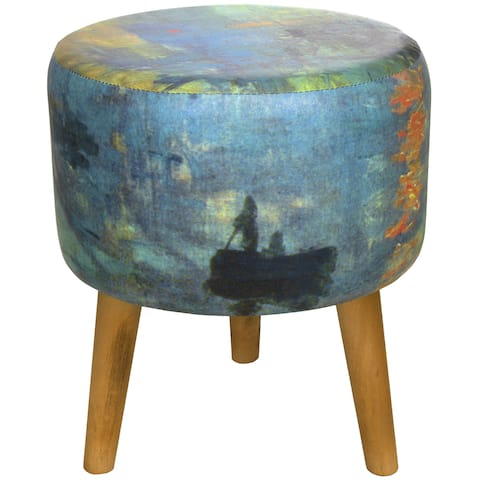 Handmade Monet Impression Sunrise Stool (China)