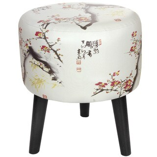 Handmade Cherry Blossom Stool (China)