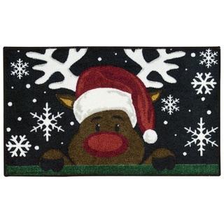 Nourison Accent Décor Reindeer Black Accent Rug (2' x 3')