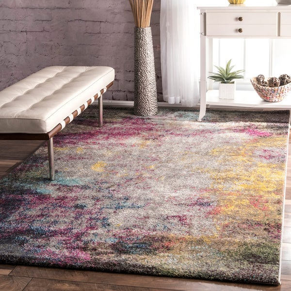 Shop Nuloom Contemporary Abstract Multi Rug 8 X 10