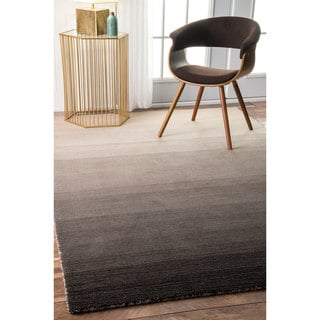 nuLOOM Handmade Contemporary Ombre Charcoal Rug (2' x 3')