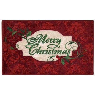 Nourison Accent Décor Merry Christmas Red Accent Rug (1'6 x 2'6)
