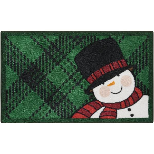 Nourison Accent Décor Snowman Green Accent Rug (1'6 x 2'6) - 1'6 x 2'6