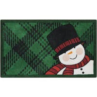Nourison Accent Décor Snowman Green Accent Rug (1'6 x 2'6) - 1'6 x 2'6