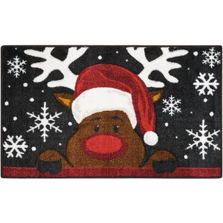 Nourison Accent Décor Reindeer Red Accent Rug (1'6 x 2'6)