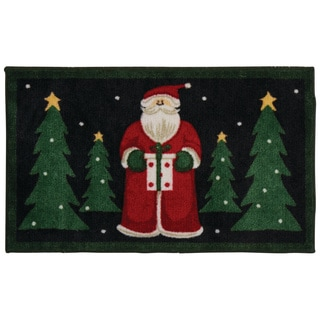 Nourison Accent Décor Santa Black Accent Rug (1'6 x 2'6)