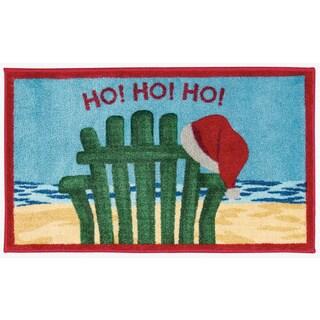 Nourison Accent Décor Ho Ho Ho Beach Chair Light Blue Accent Rug (1'6 x 2'6)