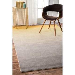 nuLOOM Handmade Contemporary Ombre Yellow Rug (4' x 6')