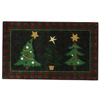 Nourison Accent Décor Christmas Trees Black Accent Rug (1'6 x 2'6)