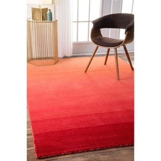 nuLOOM Handmade Contemporary Ombre Red Rug (2' x 3')