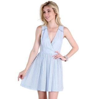 Nikibiki Women's Blue Nylon Cotton Lace Dress