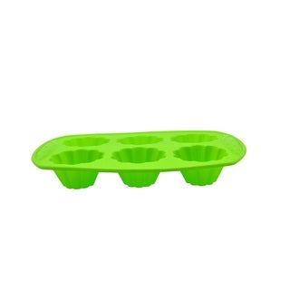Prime Cook Silicone Flower-shaped 6-count Cupcake Pan