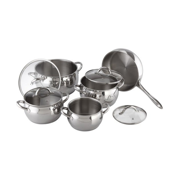 Kuchen Stainless Steel 9-piece Cookware Set - Free Shipping Today ...