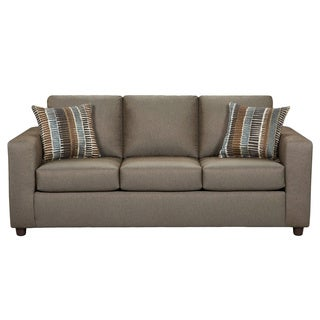 Carli Taupe Sofa with Matching Accent Pillows