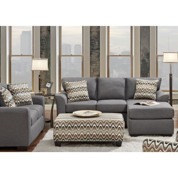 Shop Sofa Trendz Charlie 2-piece Reversible Sofa/ Chaise and ...