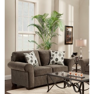 Cleo Ash Grey Loveseat with Matching Pillows