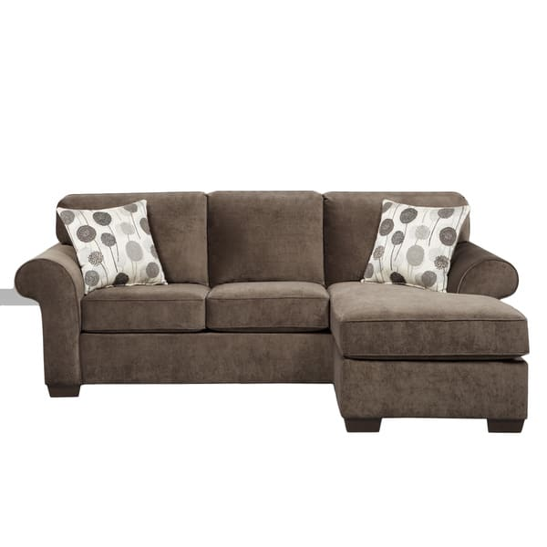 Phenomenal Shop Cleo 2 Piece Ash Grey Reversible Sofa Chaise And Ibusinesslaw Wood Chair Design Ideas Ibusinesslaworg