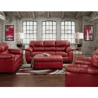 Oliver & James 4-piece Red Sofa Set