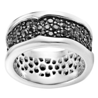 Stephen Webster Women's Sterling Silver Black Sapphire Pave Band Ring