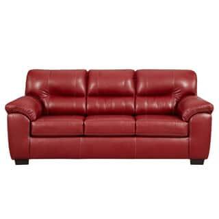 sofa trendz corina red sleeper sofa - Red Sofa