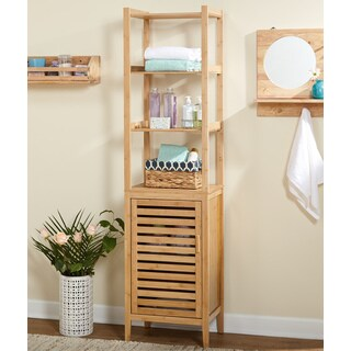 Simple Living Natural Bamboo Linen Tower