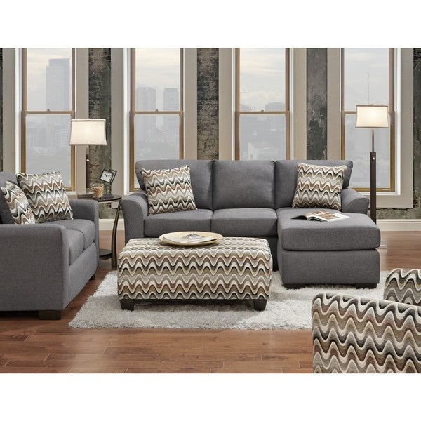 Sofa Trendz Charlie 3 Piece Chaise Loveseat And Chair Set