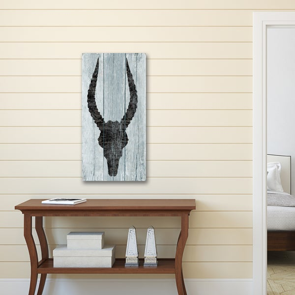Portfolio Canvas Decor by IHD Studio 'Horns Vert 9' Stretched and Wrapped, Ready to Hang Canvas Print Wall Art