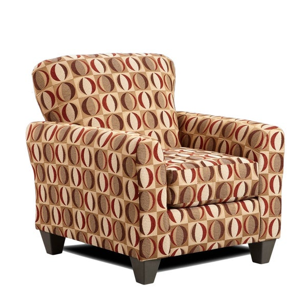 Shop Sofa Trendz Cree Brown Red Cream Polyester Accent