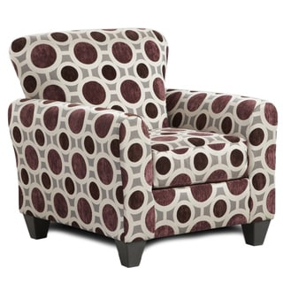 Sofa Trendz Chloe Burgundy/Multicolor Polyester Accent Chair