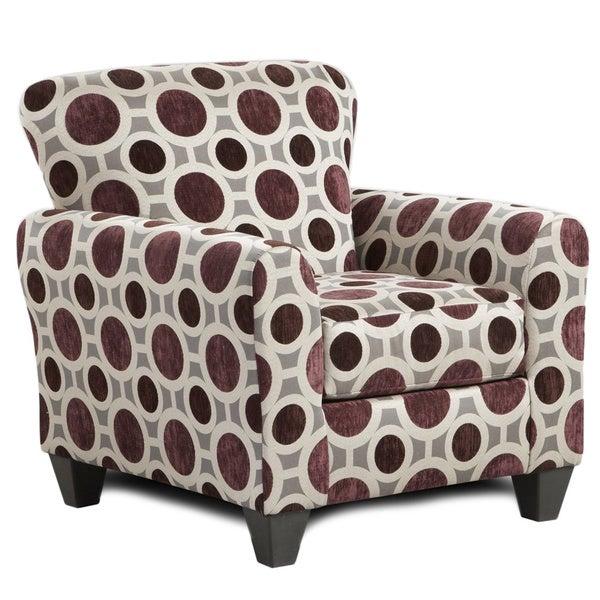 Burgundy Print Accent Chair: Shop Sofa Trendz Chloe Burgundy/Multicolor Polyester