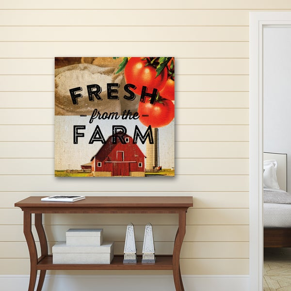 Portfolio Canvas Decor Dallas Drotz 'Fresh from the Farm' Canvas Print Wall Art