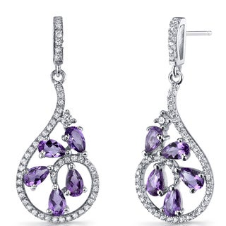 Oravo 2.5-carat Amethyst Sterling Silver Dewdrop Earrings