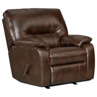 Sofa Trndz Conan Chocolate Faux Leather Chaise Rocker Recliner