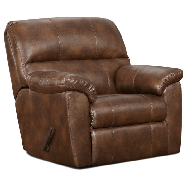 Shop Sofa Trendz Cyndel Brown Faux Leather Rocker Recliner