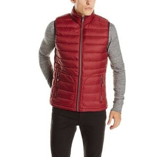 Buffalo by David Bitton Burgundy Nylon/Down Puffer Vest