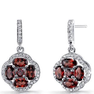 Oravo Sterling Silver 2.25-carat Clover Dangle Drop Earrings