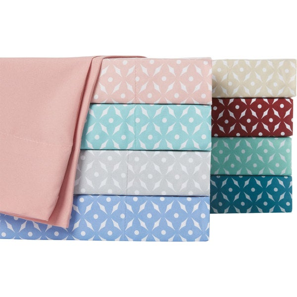 Home Dynamix Chelsea Loft Collection Hotel Diamond Pattern Sheet Set (6 or 4 piece set)