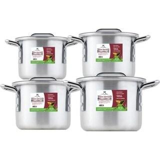 Small Aluminum Stock Pot Set of 4