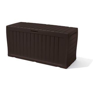 Good Plus All Weather Indoor/ Outdoor Brown Storage Deck Box