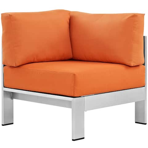 Modway Shore Aluminum/ Canvas Fabric Outdoor Patio Armchair