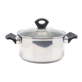 Stainless Steel 4.5-quart Covered Sauce Pot