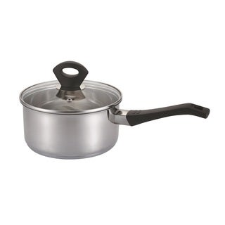 Silver Stainless Steel 5.5-quart Covered Sauce Pan