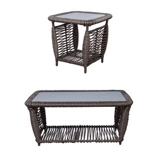 Somette Amalfi Wicker Coffee and End Table Set
