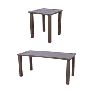 Somette Kauffmann Aluminum Coffee and End Table Set